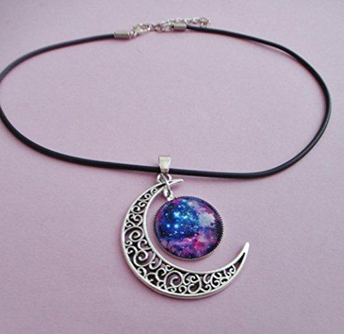 galaxy choker necklace pastel Pendant