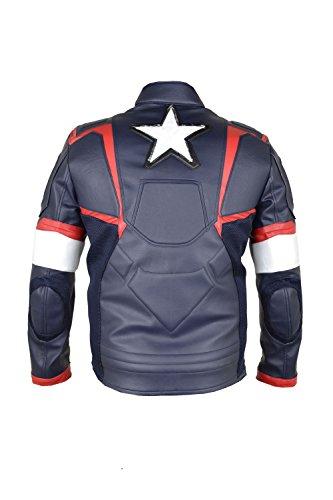 Capitán Ultron de Los con sintética El 2015 de de edad nbsp;Multi cuero Color chaqueta una América Vengadores Bqw0UdRx