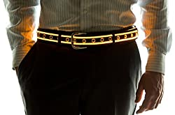 Light Up LED Belt In Yellow Color