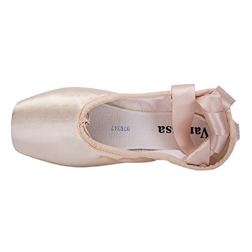 Slippers Pointe Black Shoes Womens Toe Wu Girls Pink Wendy Ballet Shoe Dance Flats Pink Pink with Red Pads Ballet Ribbons 0x8f1w