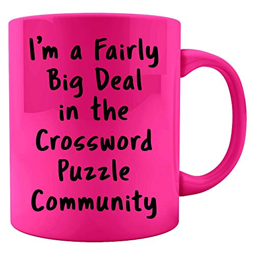 - Crossword Puzzle Big Deal Sarcastic Funny Saying Office Gift - Colored Mug
