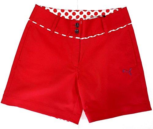 PUMA(プーマ) ゴルフWリソッドショートパンツ 923095-03 ラズベリー レディース Mサイズ