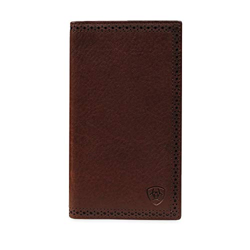 (Ariat Men's Perforated Edge Rodeo Wallet Copper Size One Size)
