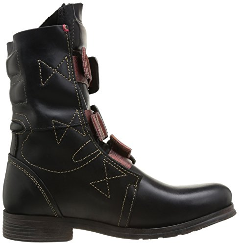 Black Women's London Boots Black Stif 016 Biker Fly xTSqwzF