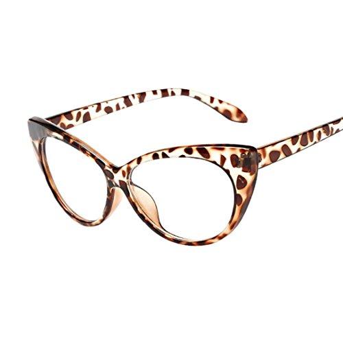 QingFan Women Men Summer Aviator Retro Cat Eye Glasses Unisex Fashion Sunglasses Kids Metal Frame (B, - B Sunglasses L