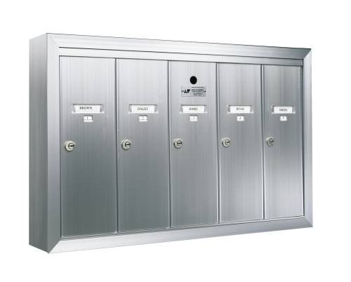 Auth-Florence 12504Smsha Florence Surface Mount Vertical 1250 Series 4-Door Mailbox