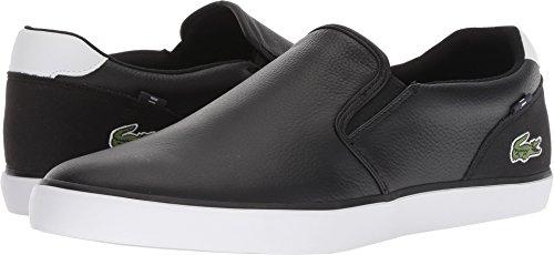 Lacoste Men's Jouer Slip 318 2 Black/White 10.5 M US M - Lacoste Slip On Sneakers