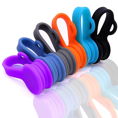 6 Pack Magnetic Twist Ties, Viaky Multicolor Magnet Keeper Bands Winder Wrap Straps Cable Clips Cord Organizer for Earphones/USB Cable/Bookmarks/Keychain/Cable Management ()