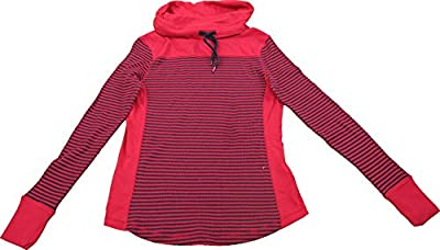 Ladies Drawstring for Adjustable Funnel Neck Thermal Long Sleeved (Assorted Colors)