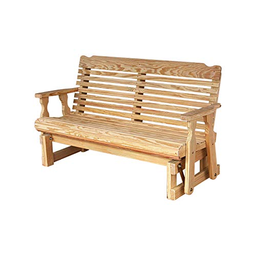 Amish Heavy Duty 800 Lb Classic Pressure Treated Porch Glider (5 Foot, (Classic Porch Glider)