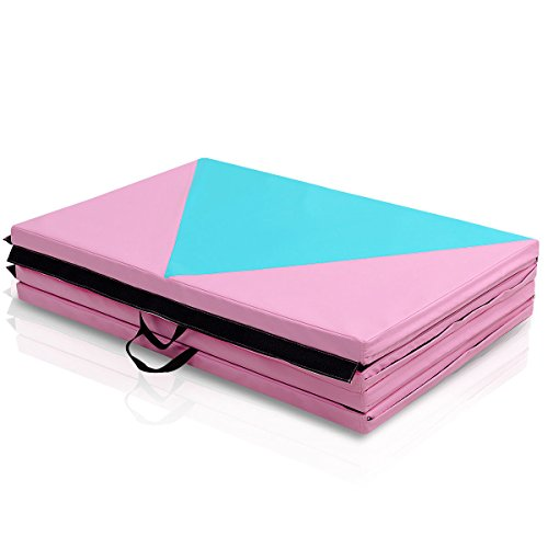 COSTWAY 4'X10'X2 Gymnastics Mat Folding Portable Exercise Aerobics Fitness Gym Exercise by COSTWAY (Image #6)