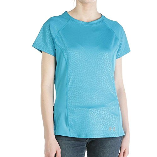 Under Armour Coolswitch Trail SS Top - Women's Aqua Blue Small