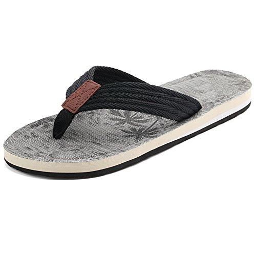 XIAOLIN Zapatillas de los hombres verano Europa y la tendencia de Estados Unidos de sandalias de playa y zapatillas antideslizantes sandalias de clip (tres colores para elegir) (tamaño opcional) ( Col 02