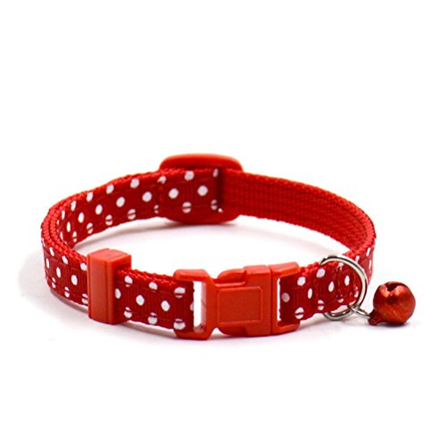 Hot Sale Pet Collars, Cute Bell Collars Small Dog Collar Cat Collars Pet Products (1.019-30CM, Red)