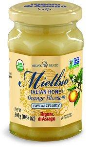 Rigoni Di Asiago Mielbio Organic Italian Orange Blossom Raw and Creamy Honey, 10.58 Ounce Creamy Asiago