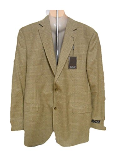 Jack Victor Males's Go well with Blazer, Tan, 46L