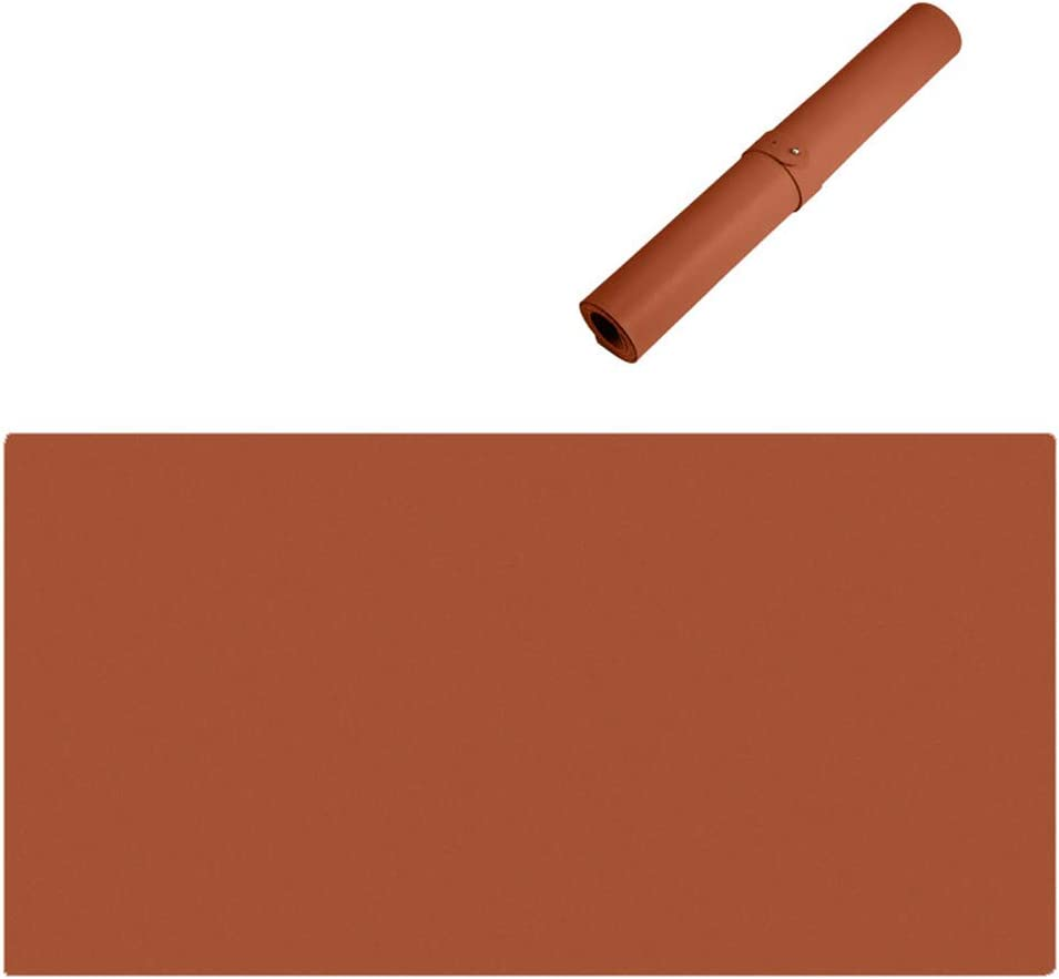 Office Desk Pad,Home Desk Mat Faux Leather Desk Mat Protector Extra Large Water and Stain Resistant 47x24inch ZFMG Premium PU Leather Mouse Mice Pad Ultra Thin 2Mm,F,120x60cm