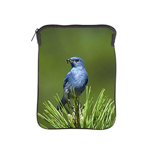 iPad 1 2 3 4 Air II Sleeve Case (2-Sided) Blue Bird on an Evergreen
