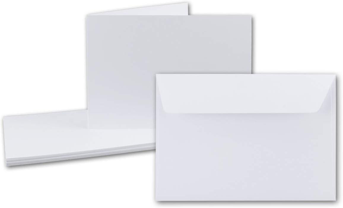 14,8 x 10,5 cm 75 Sets Premium Qualit/ät Faltkarten Set mit Brief-Umschl/ägen DIN A6 // C6 in Anthrazit-Grau Serie FarbenFroh/®