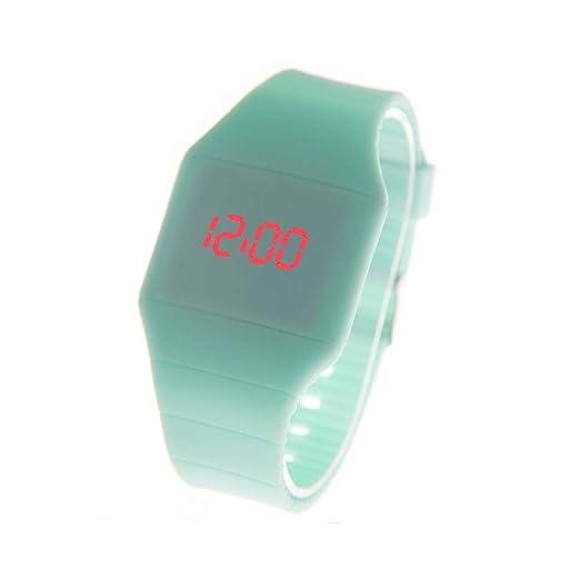 Reloj De Pulsera para Mujer Reloj Ultrafino Y Táctil Digital Reloj para Mujer Fahion Simple Y Creativo Verde Menta: Amazon.es: Relojes