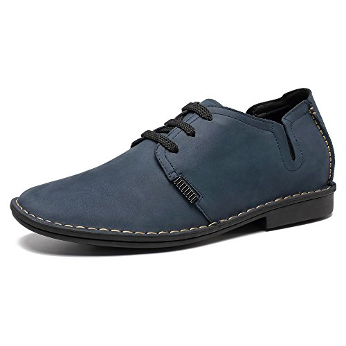 Rialzo con 5 Stringate 6 a Scarpe X58H56 Aumentano Che Uomo da Eleganti Fino CHAMARIPA Pelle cm Nero Blu l'altezza Blu E4zfaq5wxn