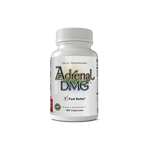 Adrenal DMG - 180 Capsules - Fight Adrenal Fatigue, Chronic Fatigue Syndrome, Fibromylagia - Stress Relief, Support Healthy Adrenal Function, Immune System, Energy Levels - All Natural Supplement