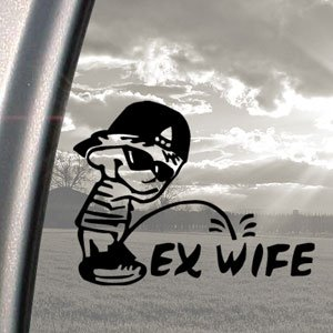 Were visited pee on x wife window sticker are