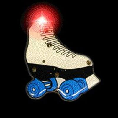blinkee Roller Skate Flashing Body Light Lapel Pins by: Toys & Games