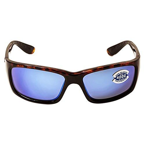 Costa Del Mar Sunglasses - Jose- Glass / Frame: Tortoise Lens: Polarized Blue Mirror Wave 400 Glass ()