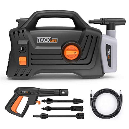 Pressure Washer, 1600 PSI 1.72 GPM 1400W Electric Power Washer with Detergent Tank Spray Wand, 20ft Pressure Washer Hose, 2 Year Warranty for Cleaning Car, Wall, Furniture, the Moss, Bird Droppings