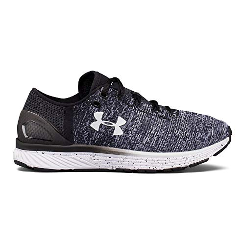 Under Armour Tennis - Under Armour Women's Charged Bandit 3 Running Shoe, Black (003)/White, 8.5