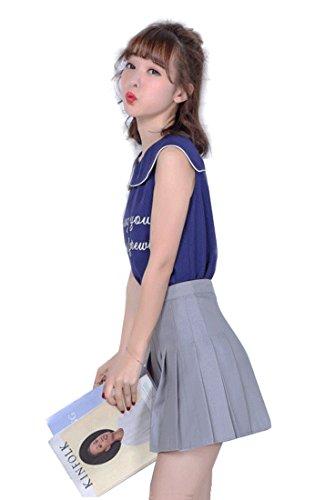 Falda escolar plisada para niña colegio tenis scooters Grey Single-layer