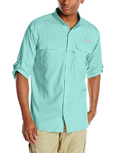 Columbia Blood and Guts III Long Sleeve Woven Shirt, Gulf Stream, Large