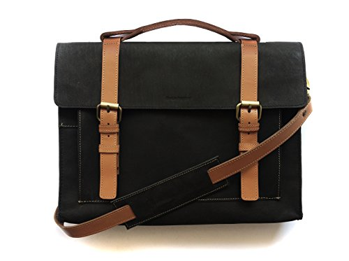Chalk Factory Heavy Leather Messenger Bag Custom Made for...