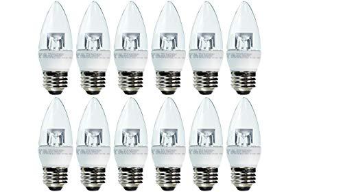 TCP 40 Watt LED B11, 12 Pack, Soft White, Dimmable, Medium Base, Chandelier Light Bulbs