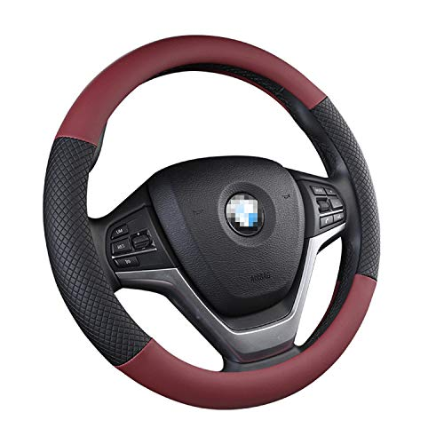 15 Inch to The Disc Cover Leather Non-Slip Printing Handle Simple Plaid Four Seasons Sedan Disk Movement Universal Breathable 38CM Comfortable Breathable Durable Soft and Tasteless Interior - Printing Durable