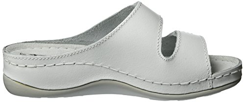 27510 Tamaris Leather Blanc white Femme Mules 117 fdwqd4