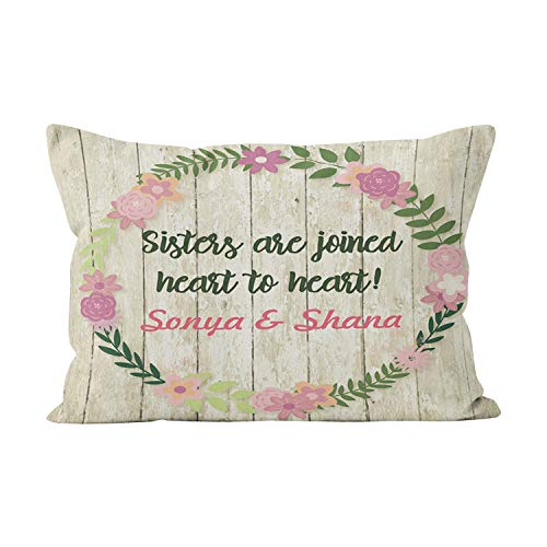 - Gygarden Funny Queen Sister Gift with Quote Personalized Present Hidden Zipper Home Decorative Rectangle Throw Pillow Cover Cushion Case 20x30 Inch One Side Design Printed Pillowcase