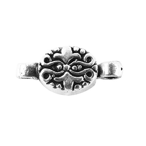 (Silver Overlay Oval Shape Designer Magnetic Clasps CSF-504-13X9MM)