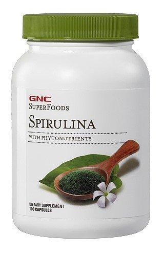 GNC Superfoods spiruline, 100 Capsules