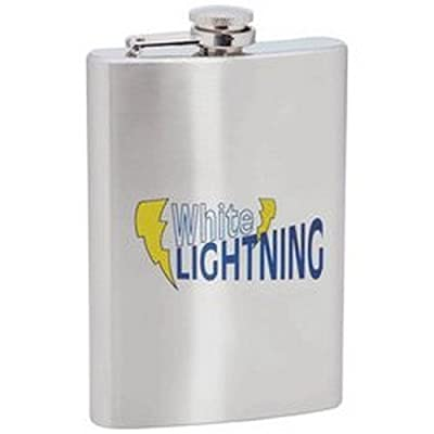 Maxam 8oz Stainless Steel Flask- White Lightning
