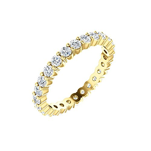 14K Yellow Eternity Band Mounting Size 7 - Eternity Band Mounting