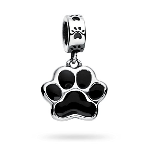 Silver Puppy Dog Paw Charms Collection Fits Women's Charm Bracelets