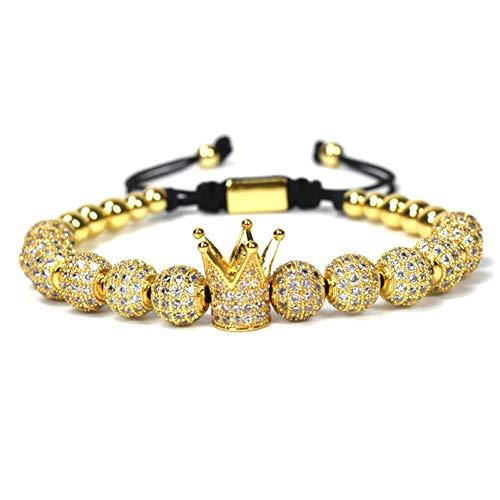 YASEF Bracelet Jewelry Crown Charms Bracelet Couple Bracelets for Men Women pulseira Masculina pulseira feminin