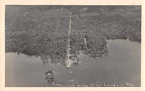 Highlands Maine Moosehead Lake Real Photo Aerial View Postcard JE228656