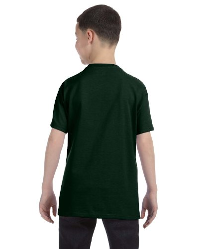 Jerzees Youth 5.6 oz., 50/50 Heavyweight Blend T-Shirt, XL, FOREST GREEN (Youth Jerzees Heavyweight Blend)