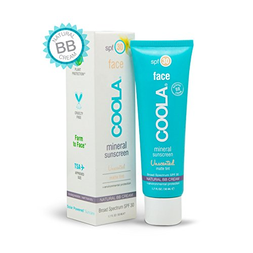 Natural Shea Sunscreen Butter (COOLA Mineral Suncare Unscented Matte Tint Face Sunscreen, SPF 30, 1.7 Fl Oz)