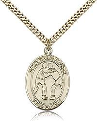 Gold Filled St. Christopherwrestling Pendant