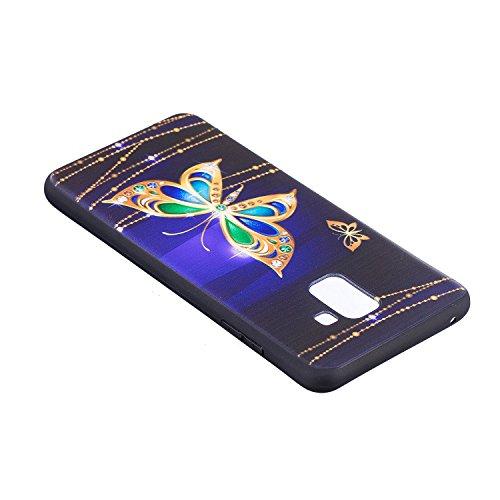 Coque Etui Femme Samsung A8 Plus 2018 Galaxy Housse de Silicone Plus Motif 2018 pour Coque Homme Galaxy Protection Herbests Slim A8 Coque Ultra Samsung Samsung Papillon 2018 Fille Plus A8 avec Galaxy Silicone T1YwxpqRn