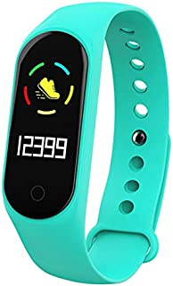 Leoie Smart Wristband Bracelet Smart Bracelet Color-Screen IP67 Fitness Tracker Blood Pressure Heart Rate Monitor Smart Band for Android iOS Phone Green